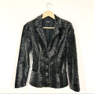 Betsey Johnson Vintage Faux Fur Animal Print Coat